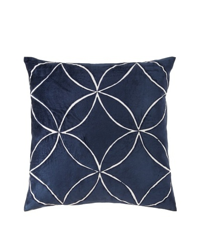 Filling Spaces Iris Pillow, Blue, 20x20