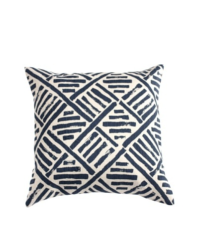 Filling Spaces Hand-Printed Brushstroke Pillow, Indigo