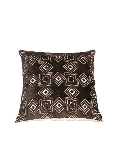 Filling Spaces Hand Appliqué Pillow, Chocolate