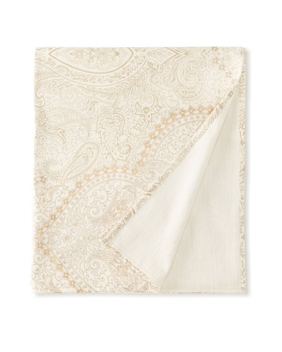 "Filling Spaces Jayne Throw, Cream/Gold, 50"" x 64"""