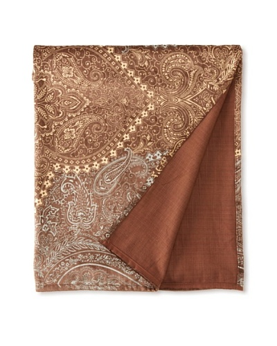 "Filling Spaces Jayne Throw, Chocolate/Gold/Silver, 50"" x 64"""