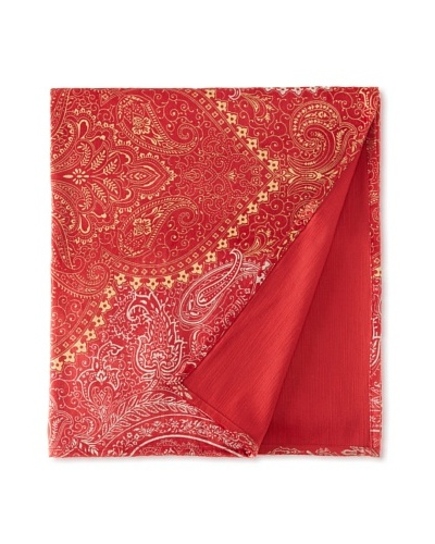 Filling Spaces Jayne Throw, Red/Gold/Silver, 50 x 64