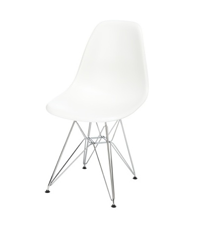 Fine Mod Wire-Leg Dining Side Chair, White
