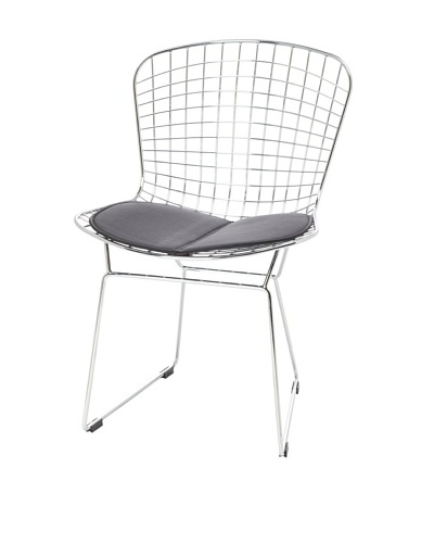 Fine Mod Wire Side Chair, BlackAs You See