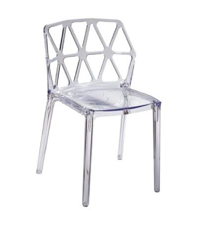 Fine Mod Zig Zag Dining Chair, Clear