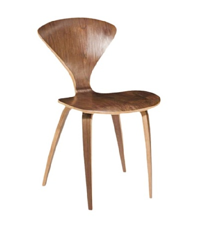 Fine Mod Wooden Side Chair [Walnut]