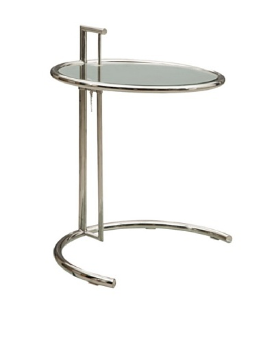 Fine Mod Round End Table, Clear