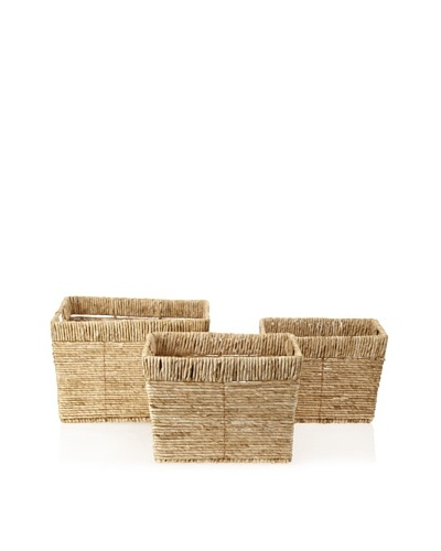 Firefly Set of 3 Woven Storage Baskets