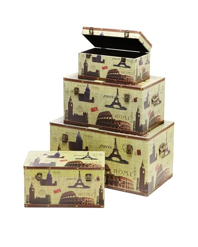 Firefly Set of 4 Famous Cities Trunks