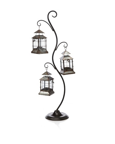 Firefly Home Collection Stand with 3 Hanging Lanterns