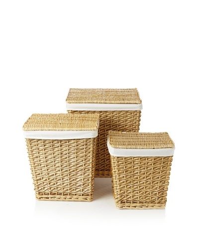 Firefly Home Collection Set of 3 Sea Grass Laundry Baskets