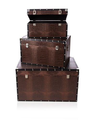 Firefly Home Collection Set of 3 Dark Brown Trunk Sets