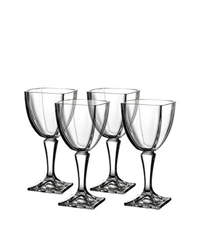 Fitz and Floyd Set of 4 Gemini Crystal 10.14-Oz. Wine Goblets