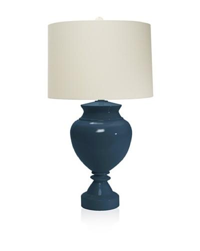 Aqua Vista Lighting Brompton Spun Bamboo Table Lamp, New Navy