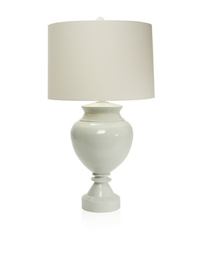 Aqua Vista Lighting Brompton Spun Bamboo Table Lamp, Sky Gray