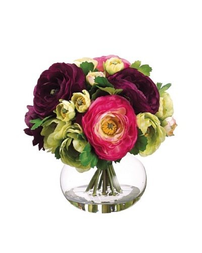 Ranunculus Bouquet In Glass Vase