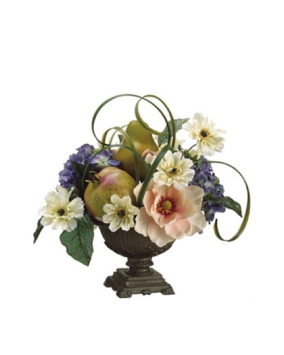 Magnolia, Hydrangea and Pear In Urn