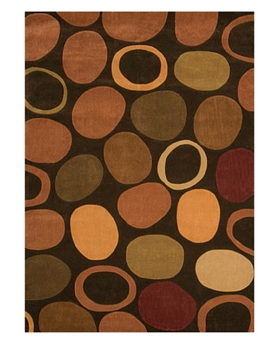 Festival Rug, Brown/Apricot/Pomegranate/Russet, 5' x 7' 3