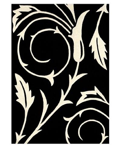 Festival Rug, Black/Off White, 5' x 7' 3