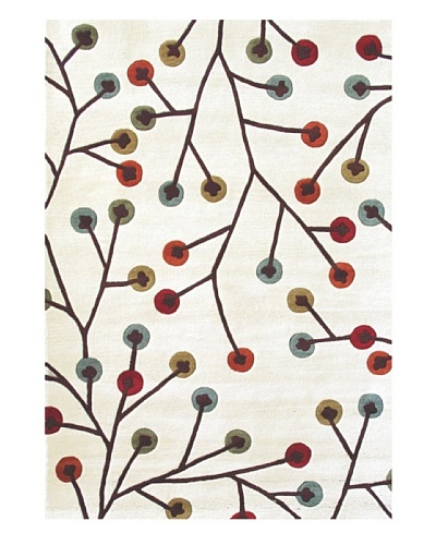 Boardwalk Rug, Cream/Blue/Red/Orange/Green, 5' x 7' 3""