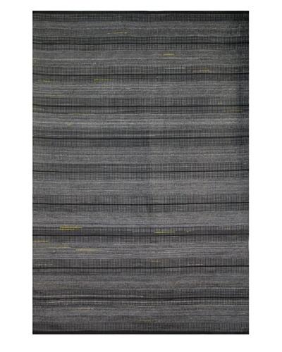 Festival Rug, Charcoal/Gray/Yellow, 5' x 7' 3