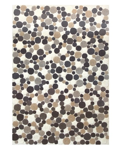 Chelsea Rug, Charcoal/Brown/Tan/Off-White, 7' 5 x 9' 6