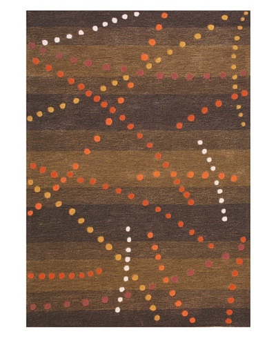 Festival Rug, Brown/Tan/Orange/Red, 5' x 7' 3