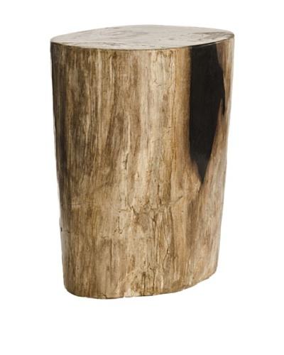 Foreign Affairs Paleo One of A Kind Petrified Wood Table, Multi