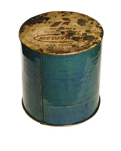 Foreign Affairs Cargo Oil Drum Stool/Side Table, Various