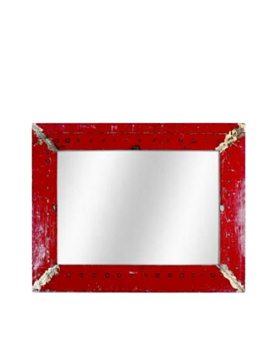Foreign Affairs Kante Mirror, Red/Green