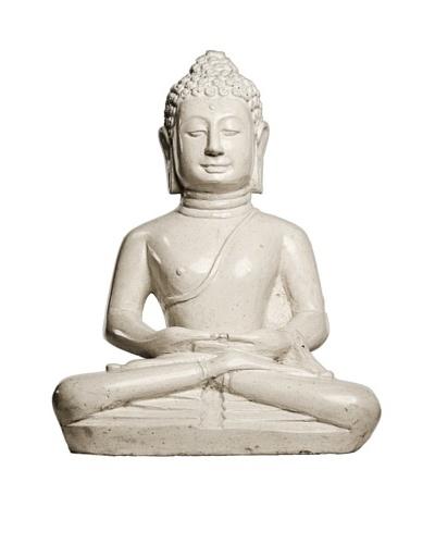 Foreign Affairs Sitting Buddha Statue, White