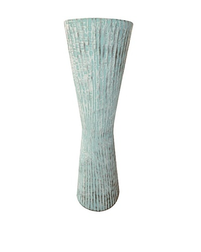 Foreign Affairs Decorative Wood Stand, Turquoise