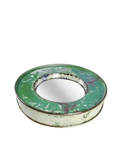 Foreign Affairs Kacat Mirror, Green/White