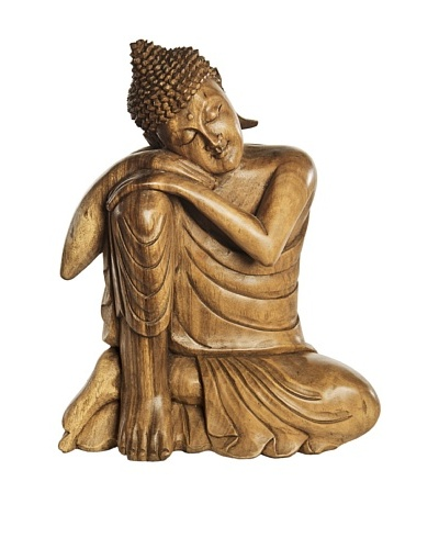Foreign Affairs Sitting Buddha Statue, Natural