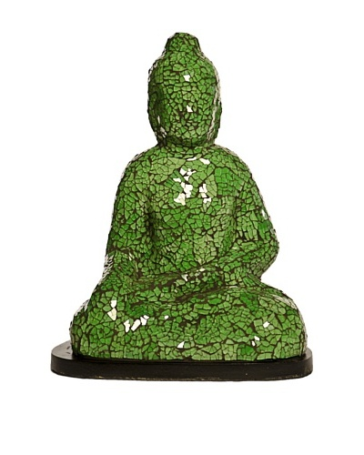 Foreign Affairs Small Sitting Buddha Lamp, Green