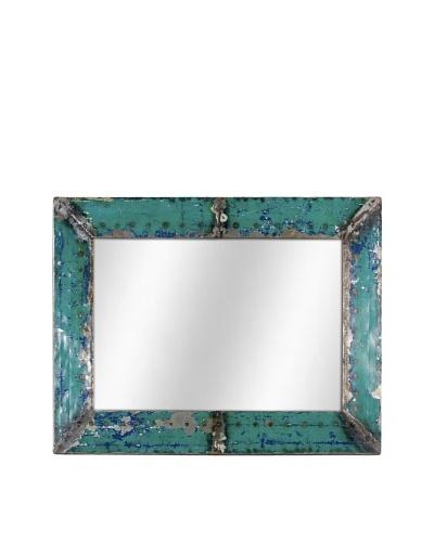 Foreign Affairs Kante Mirror, Turquoise