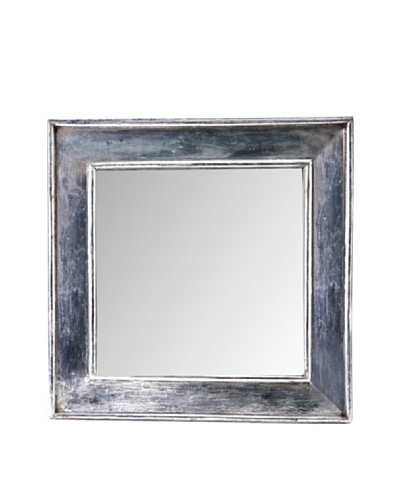 Foreign Affairs Square Silvered Mirror Tartar, Handcrafted