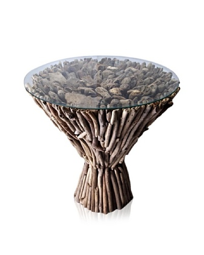 Foreign Affairs Indah Solid Suar Wood Accent Table