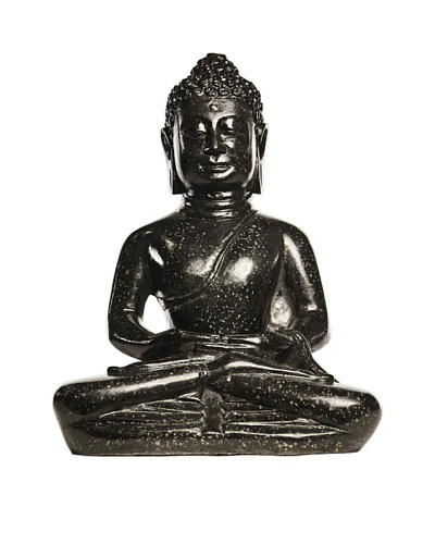 Foreign Affairs Sitting Buddha Statue, Black