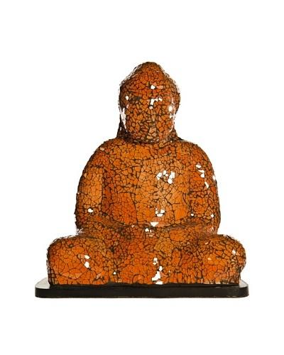 Foreign Affairs Large Sitting Buddha Lamp, Orange