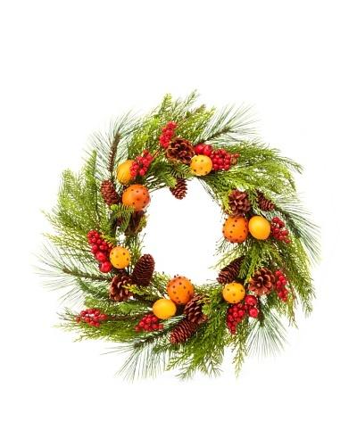 24 Pine/Pomander Wreath