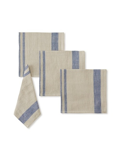 Found Object Chambery Set of 4 Linen/Cotton Napkins