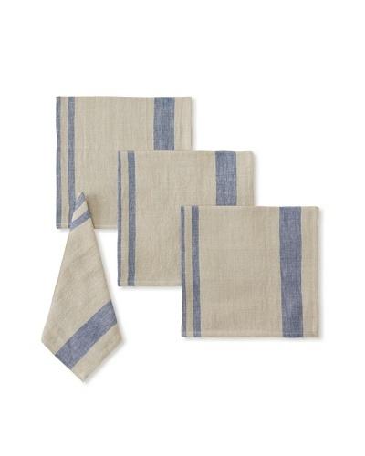 Found Object Chambery Set of 4 Linen/Cotton Napkins