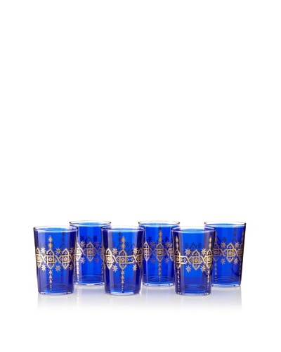 Found Objects Set of 6 Souad Moroccan Glasses
