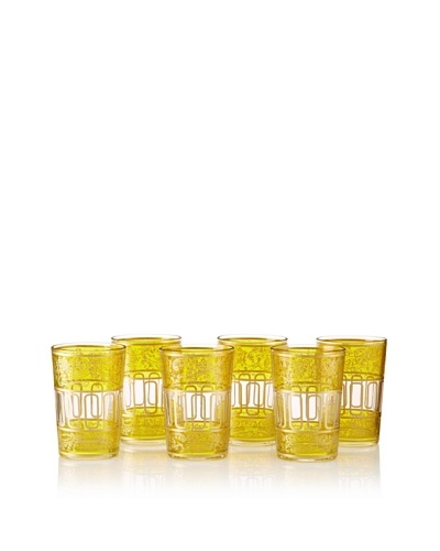 Found Objects Set of 6 Lalla Moroccan Glasses