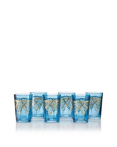 Found Objects Set of 6 Punto Moroccan Glasses