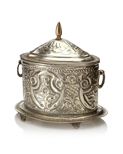 Found Objects Moroccan Spice Box, Large, Silver