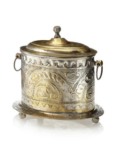 Found Objects Moroccan Spice Box, Small, Silver