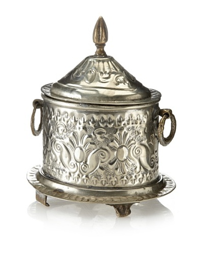 Found Objects Moroccan Spice Box, Small, Silver