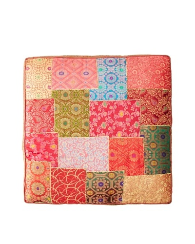 Found Objects Square Patchwork Brocade Pillow